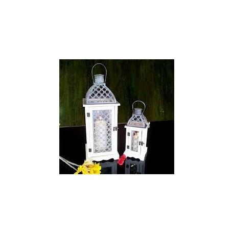 Set houten lantaarns (groot en klein)