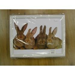 Laptray met afbeelding konijntjes