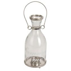 THEELICHTHOUDER GLAS MET METAL